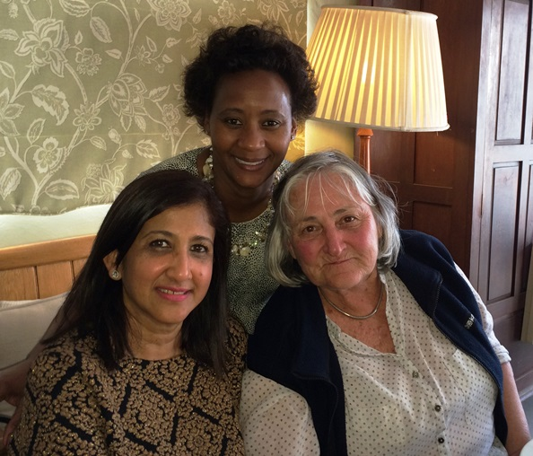 L-R:  Pranitha Pather, Rosie Chite, and May Bingham.