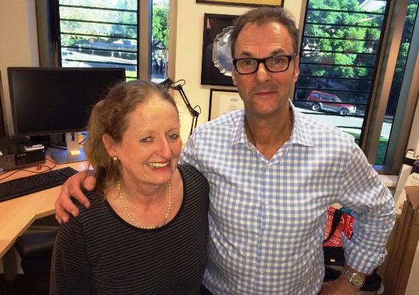 Brenda Eckstein and Professor Anthony Grant – March 31 2015.
